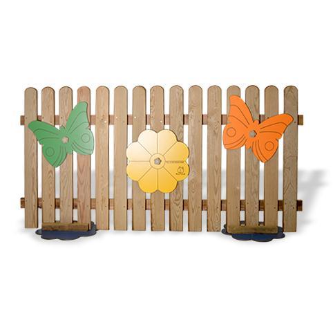 Staccionata fiorellina in legno massello pe02006 for Staccionata per bambini ikea
