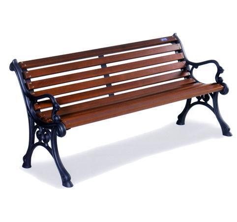 Panchina in legno con sostegni in ghisa pe02048 for Panchine arredo urbano prezzi