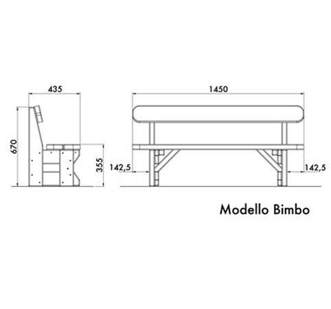 Misure Panche In Legno.Panchina In Legno Di Pino Nordico Pe0214x Dimensione