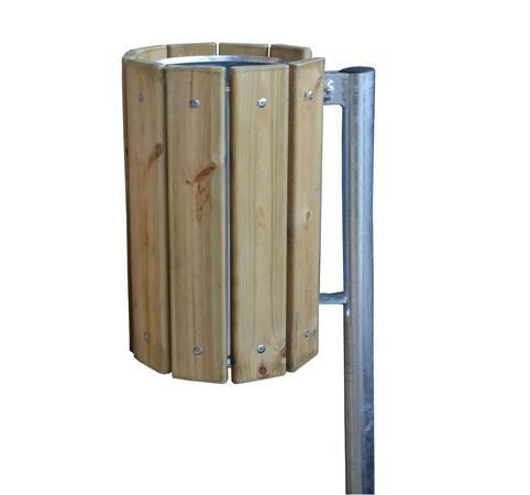 Cestino portarifiuti in legno pe21039 dimensione comunit s r l - Cassapanche in legno per esterno ...