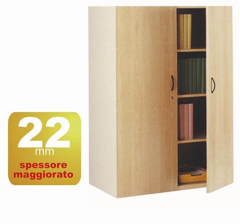 armadio 2 ante - 4 ripiani in bilaminato ar01029    dimensione