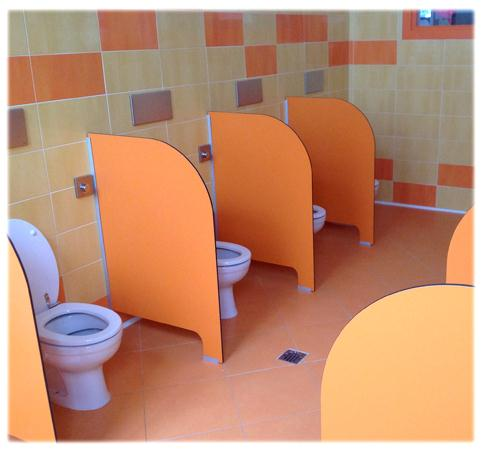 Parete divisoria per toilette in HPL SP35002    Dimensione Comunità ...