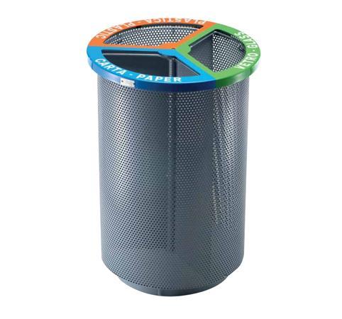 Cestino cilindrico per raccolta differenziata pe21061 - Contenitori rifiuti differenziati per casa ...