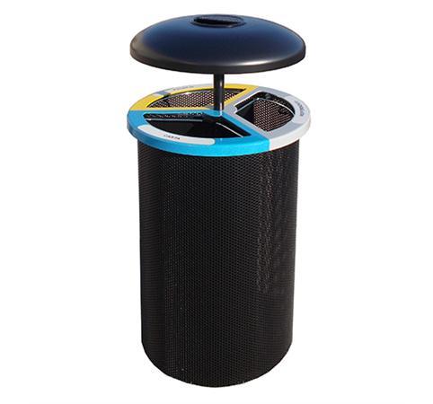 Cestino cilindrico per raccolta differenziata pe21061 dimensione comunit s r l for Arredo 3 srl legnago
