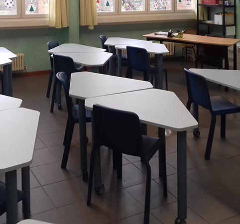 Arredo scuola tavoli e sedie per bambini for Tavoli arredo 3