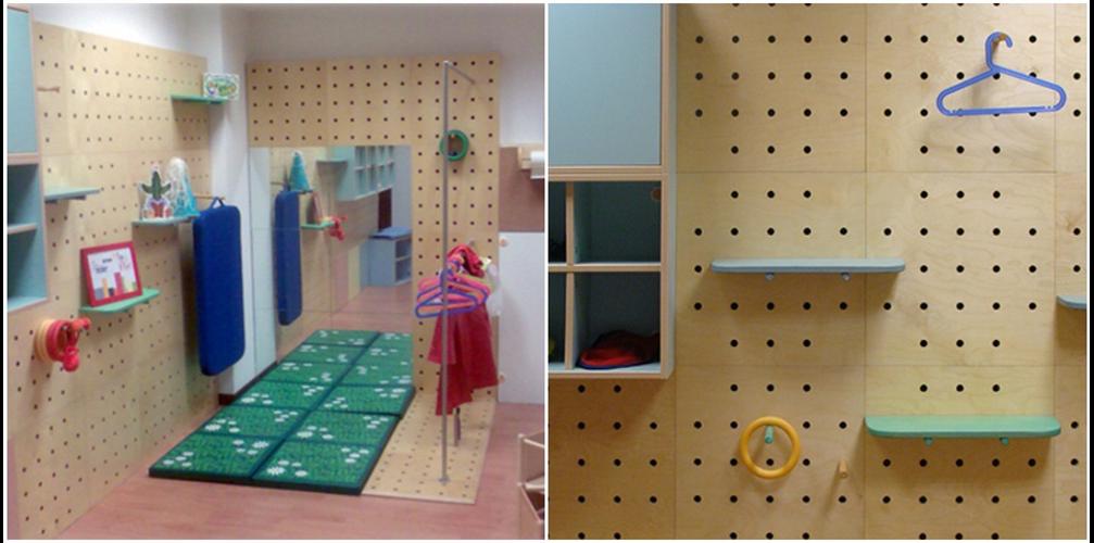 Arredi modulari per asilo scuola elementare e camerette for Arredamento montessori